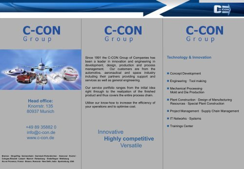 Highly competitive - C-Con Gmbh