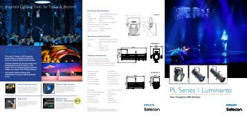 PL Series 1 LED Luminaires 6-page Brochure - Selecon