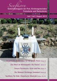 Gemeindemagazin Senfkorn - Protestantischer Kirchenbezirk Bad ...