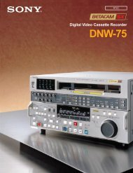 Digital Video Cassette Recorder DNW-75