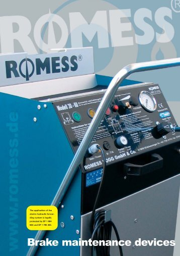 Brake maintenance devices - Romess Rogg
