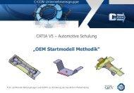 CATIA V5 – OEM Startmodell Methodik - C-Con GmbH