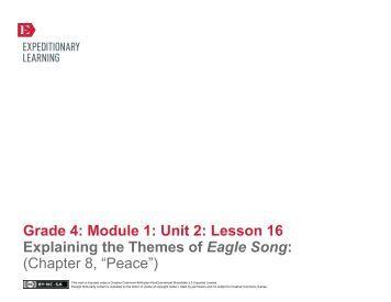 Grade 4 ELA Module 1, Unit 2, Lesson 16 - EngageNY