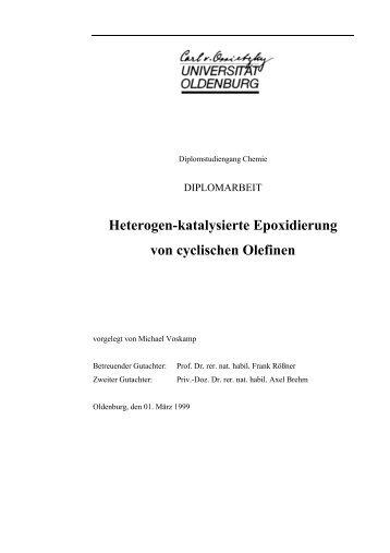 Heterogen-katalysierte Epoxidierung von cyclischen Olefinen