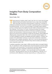 Insights From Body Composition Studies - Abbott Nutrition