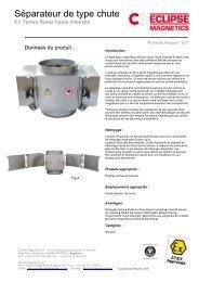Séparateur de type chute pdf - Eclipse Magnetics