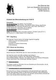 Der Elternrat des Carl-von-Ossietzky-Gymnasiums Müssenredder ...