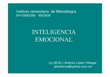 INTELIGENCIA EMOCIONAL - Emagister