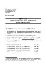 Auftragsbestätigung Veranstaltungshaftpflicht - Oberösterreich ...