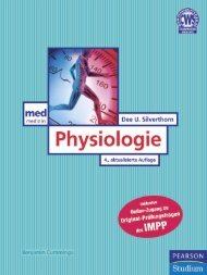Physiologie - 4., aktualisierte Auflage ... - Pearson Studium