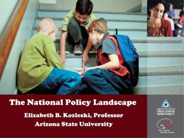 The National Policy Landscape - NCCRESt