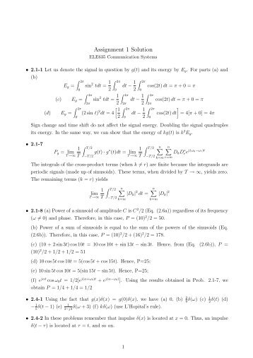 homework 1 solution 1 es128: homework 1 solutions problem 1 for the spring system given in figure 1, a number the elements and nodes b assemble the global stiffness and force matrix.