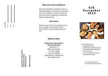KJG Kurspaket 2013 - Katholisches Jugendreferat | BDKJ ...