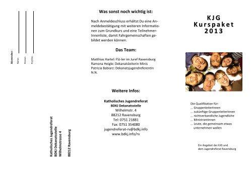 KJG Kurspaket 2013 - Katholisches Jugendreferat   BDKJ ...
