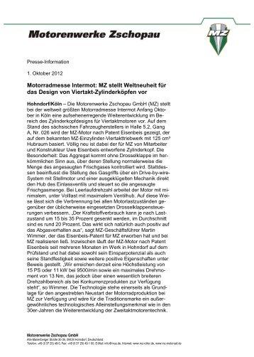 Motorenwerke Zschopau GmbH  Alte Marienberger Str - Press1