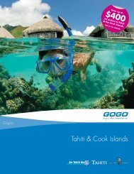 Tahiti & Cook Islands - GOGO Worldwide Vacations