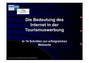 14 Schritte zur erfolgreichen Tourismuswebsite