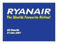 Ryanair Quarter 3 Results 2008
