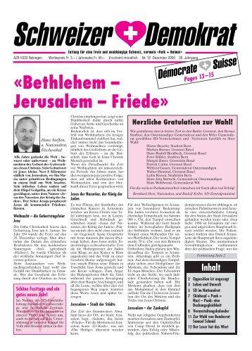 Umbruch Dezember - Schweizer Demokraten SD