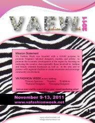 Mission Statement - VA Fashion Week 2012