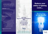 Reduce your utility & lighting costs… - Worcester