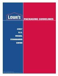 PACKAGING GUIDELINES - LowesLink