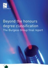 Beyond the honours degree classification - Universities UK
