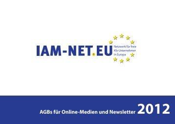 AGBs für Online-Medien und Newsletter 2012 - IAM-NET.EU