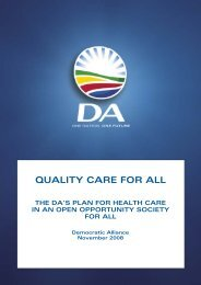 QUALITY CARE FOR ALL - Democratic Alliance