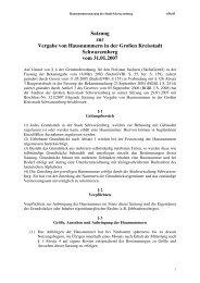 Satzung zur Vergabe von Hausnummern in der ... - Schwarzenberg
