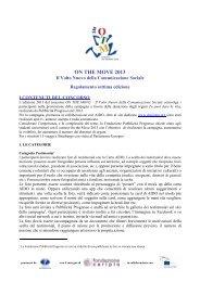 Regolamento - Fondazione Pubblicità Progresso