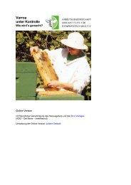 Broschüre Varroa unter Kontrolle