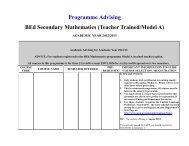 Programme Advising BEd Secondary Mathematics ... - Uwi.edu