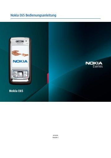 Nokia E65 Bedienungsanleitung