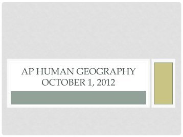 AP Human Geography - School District U-46
