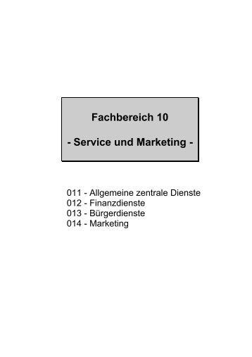 Fachbereich 10 - Service und Marketing -