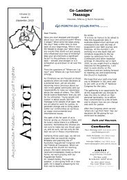 Amici Vol 11 Issue 3 September 2009 - The Augustinians in Australia