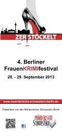 Flyer mit allen Veranstaltungen des Festivals - Kulturforum Stadt Berlin