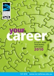Course Guide 2010 – TAFE NSW – Northern Sydney Institute – NSI