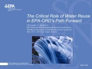 The Critical Role of Water Reuse in EPA-ORD's Path Forward