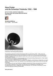 Hans Finsler und die Schweizer Fotokultur 1932 – 1960 - eMuseum