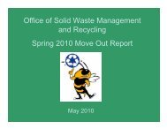 2010 Move Out Report - Georgia Tech - Office of Solid Waste ...