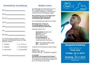 Anmelde Flyer - Evangelische Kirchengemeinde Anspach