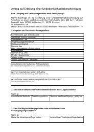 Antrag Unbedenklichkeitsbescheinigung - Waffen Braun
