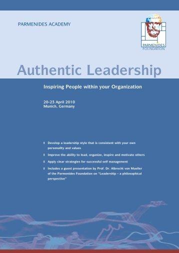 Download the course brochure here (pdf) - Parmenides Foundation