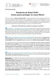 Pandemia de Gripe H1N1: Como posso proteger os meus filhos?