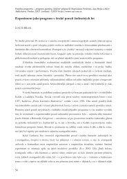 Experiment jako program v české poezii šedesátých let
