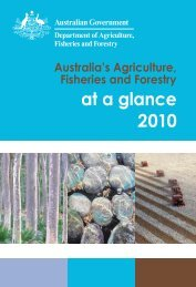 at a glance 2010 - Department of Agriculture, Fisheries and Forestry