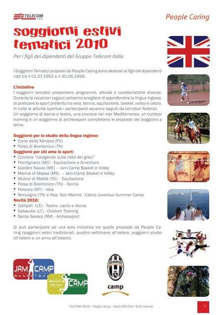 soggiorni estivi tematici 2010 - Peoplecaring.telecomitalia ...