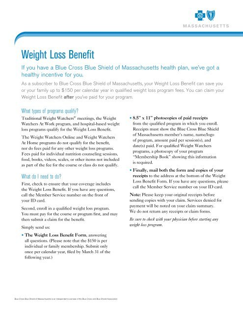 Weight Loss Benefit Form
